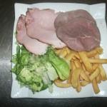 assiette de viande froide
