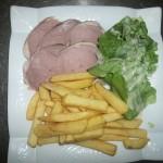 gigot d'agneau froid frites salade