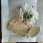 cabillaud sauce basilic riz